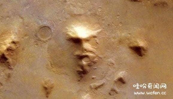火星现外星人脸引猜想