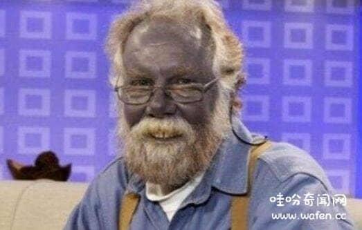 蓝色皮肤的奥坎基查尔族人