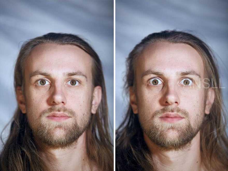 同一个人穿衣和裸-体时的特写照片,你能从脸部表情猜出哪一个正一丝不挂吗?
