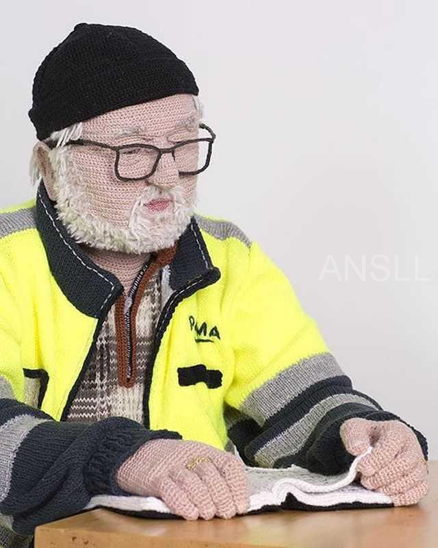 一位芬兰艺术家在她的家乡创作真人大小的编织人,有点毛骨悚然!