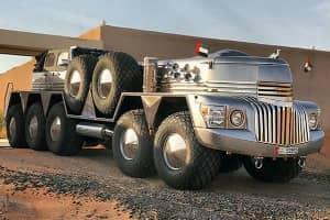 世界上最大、最奇异的SUV。拥有者是一位阿拉伯土豪